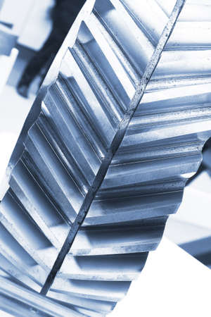 Strong steel gear close-up Stock Photo - 16452658