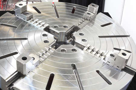 Powerful industrial equipment rotary table close-up Stock Photo - 16452714