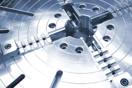 Powerful industrial equipment rotary table close-up Stock Photo - 16452650