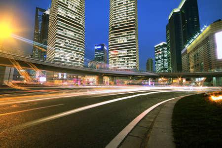 The street scene of the century avenue in shanghai,China