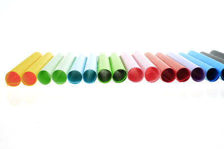 unprinted: Abstract backgrounds superimposed together colors paper tube texture Stock Photo