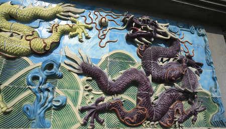 Chinese ancient royal of ceramics purple dragon