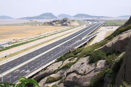 Spacious high speed road forwardly extending photo