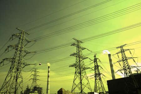 redes electricas: Base de malla de torres de transmisión de energía