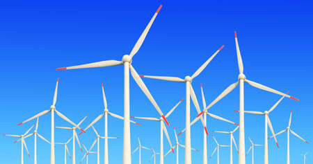 Eco power,Wind turbines farm  Stock Photo - 17023924