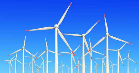 Eco power,Wind turbines farm Stock Photo - 17023924