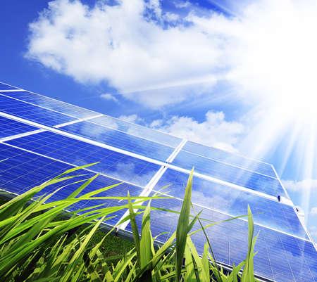 Eco Power, Power plant den Einsatz erneuerbarer Solarenergie mit Standard-Bild