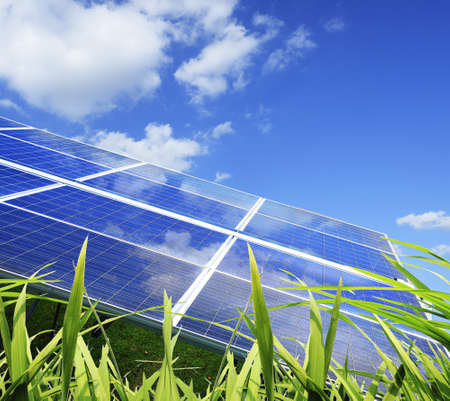 solar electric: Power plant using renewable solar energy with
