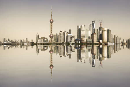 Shanghai skyline at reminiscence