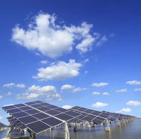 Power plant using renewable solar energy with.(Working path) Stock Photo - 17291966