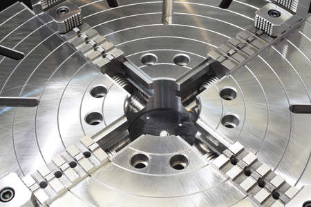 Powerful industrial equipment rotary table close-up Stock Photo - 19448470
