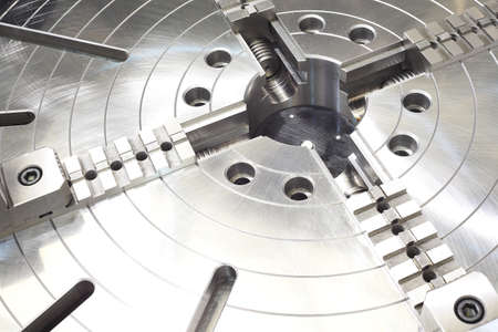 Powerful industrial equipment rotary table close-up Stock Photo - 19448406