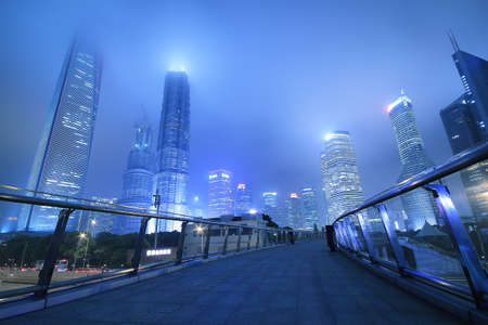 Shanghai Lujiazui landmark at night  Stock Photo
