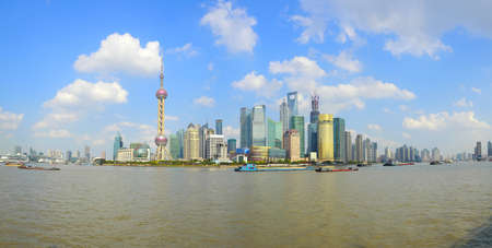 Shanghai bund landmark skyline landscape photo