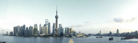Shanghai panoramic photo skyline