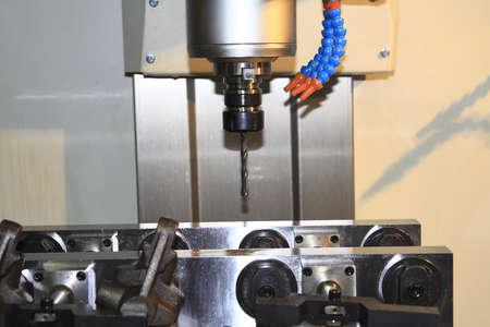 CNC machine at work  Stock Photo