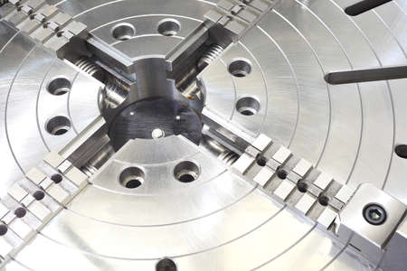 gearwheel: Powerful industrial equipment rotary table close-up