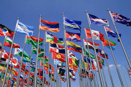 British Commonwealth and World national flags all over the world photo