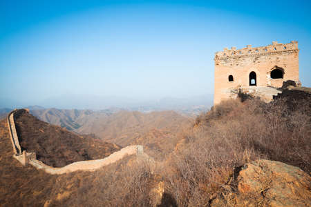 Ancient great wall of China in winter photo
