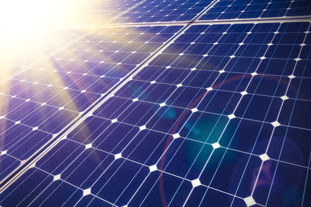 Green energy and sustainable development of solar energy photo