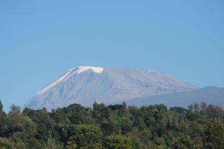 Summit Of Kilimanjaro Stock Photo