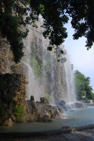 Waterfall In Nice 2 Stock Photo