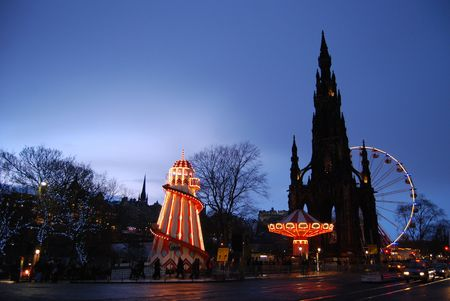 edinburgh: Capital Funfair Stock Photo