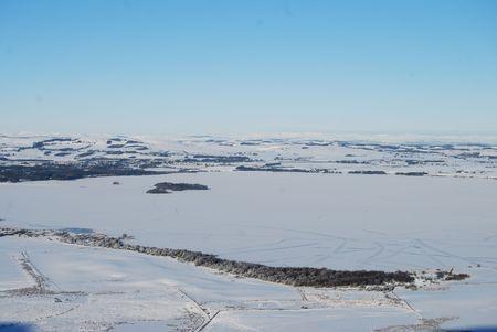 Frozen Loch Leven