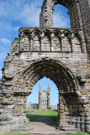 Cathedral Tower Seen Through Arch photo