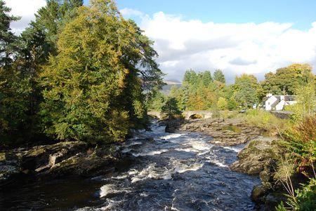 Autumn Sun At Falls Of Dochart Stock Photo - 8003696