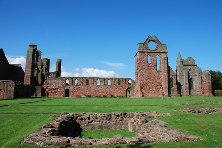 View of Arbroath Abbey Stock Photo