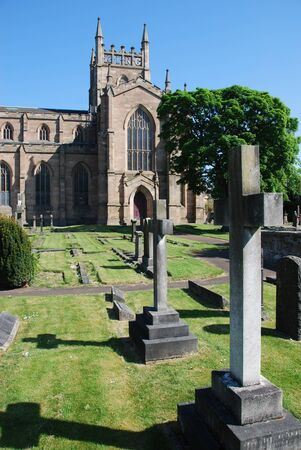 Dunfermline Abbey Church and Graveyard Stock Photo - 13873790