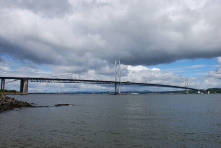 forth: View of Forth Road Bridge Stock Photo