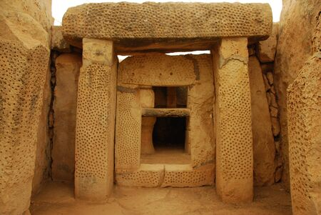 Remains of Mnajdra temple photo