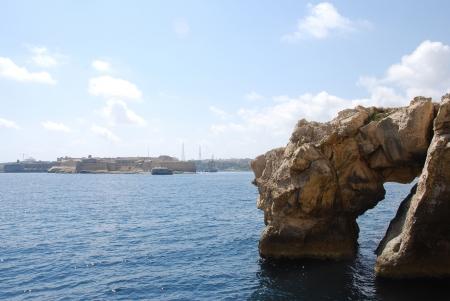 rock arch: Rock Arch in Valletta