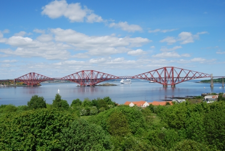 forth: Forth Rail Crossing Stock Photo