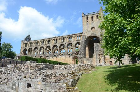 abbey: Exterior of Jedburgh Abbey