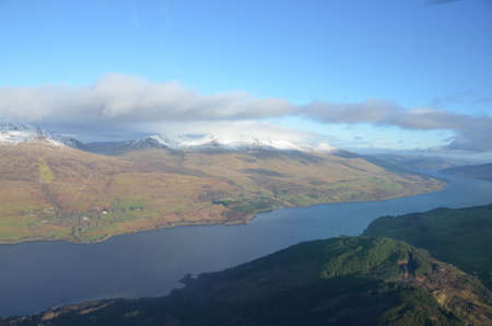 tay: Aerial View of Loch Tay Stock Photo