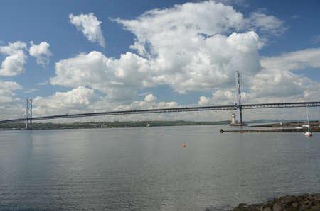 forth: Forth Bridge and Estuary Stock Photo
