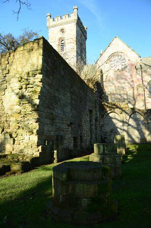 the abbey: Culross Abbey Stock Photo