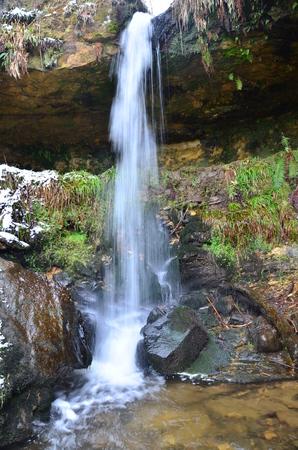 den: Waterfall at Maspie Den