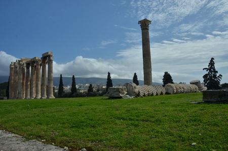 olympian: Olympian Zeus Temple Ruins Stock Photo