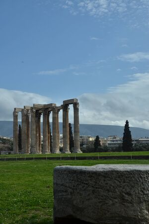 olympian: View of Olympian Zeus temple