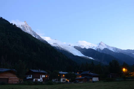 nightfall: Nightfall in Chamonix
