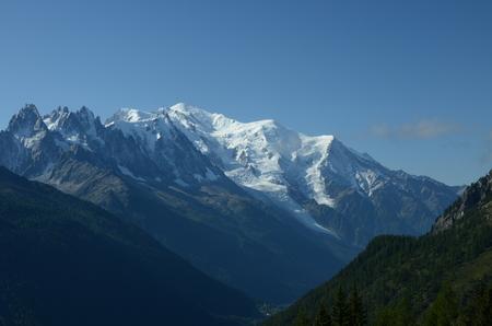 blanc: Mont Blanc View Stock Photo