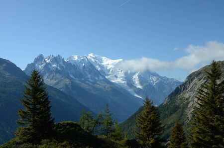 mont: View Toward Mont Blanc Stock Photo