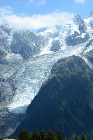 blanc: Glacier on Mont Blanc