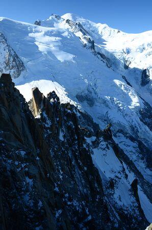 blanc: Mont Blanc Glacier Stock Photo