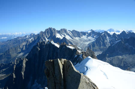 crevasse: Mountain Panorama Stock Photo