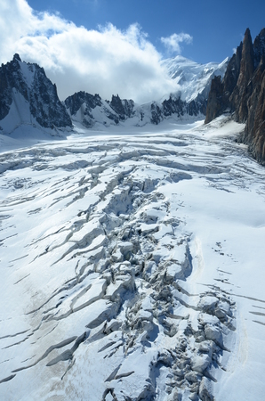crevasse: Crevasse on Glacier